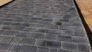Natural stone paving driveway